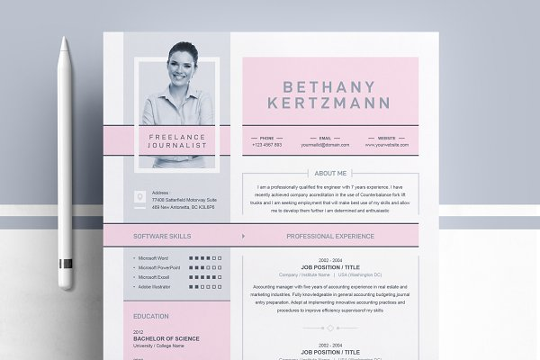 Cool Creative Cv Resume Design Creative Illustrator