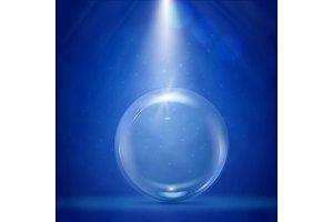 Big bubble with stage illumination