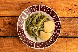 green bean dish with potatoes