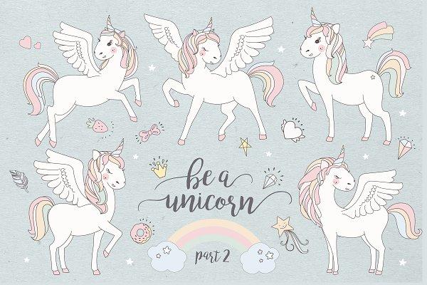 Magical collection of unicorns II