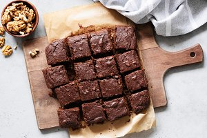Chocolate brownie squares
