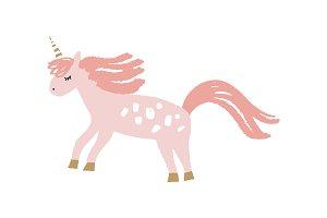 Vector cute unicorn art