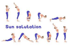 Sun salutation variations