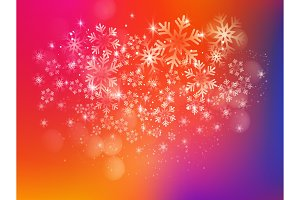 Merry Christmas Background with Snow