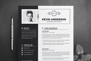 Black & White Resume Template | CV