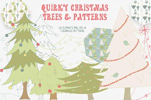 Christmas Tree Graphics and Patterns