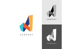 Logo design element. Letter symbol