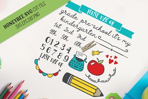 Back To School Kit SVG Cut file