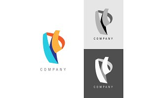 Logo design element. Letter symbol P