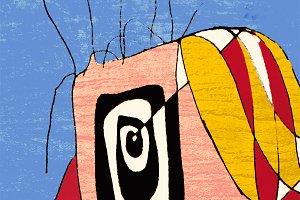 Crazy Clown Drawing Portrait