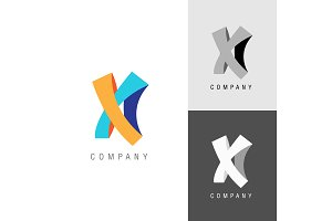 Logo design element. Letter symbol X