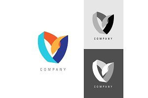 Logo design element. Heart or flower