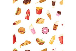 Fast food vector nutrition american