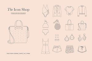 Fashion Blog Illustration Collection