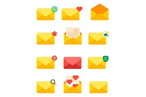 Email envelope cover icons