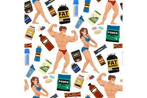 Bodybuilders gym athlete seamless