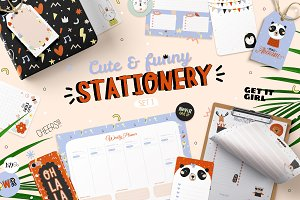 Cute and funny stationery