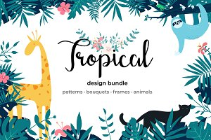 -50% Off. Tropical Design Graphics