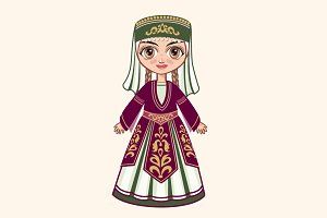 The girl in the Armenian suit
