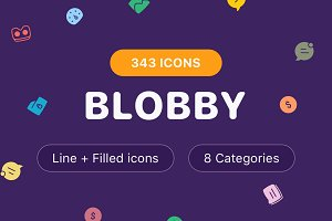 Blobby Icons Set