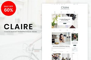 Claire - Elegant Blog WordPress