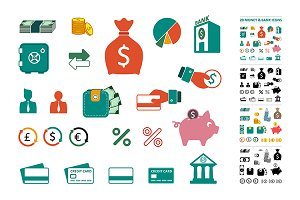 Money & bank icons