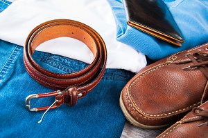 Man's clothes and leather accessorie