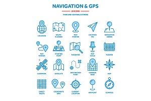 Map and navigation. GPS coordinates