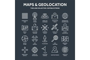 Map and navigation. GPS coordinates