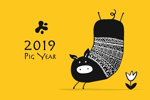 15 cute pigs, symbol of 2019
