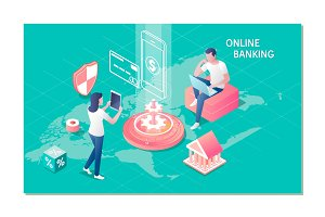 Online banking, e-banking concept