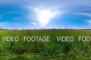 Beautiful summer landscape 360VR