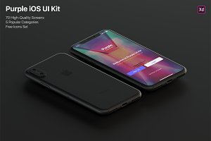 Purple iOS UI Kit