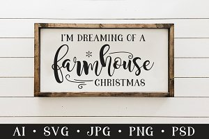 Farmhouse Christmas Quote SVG File