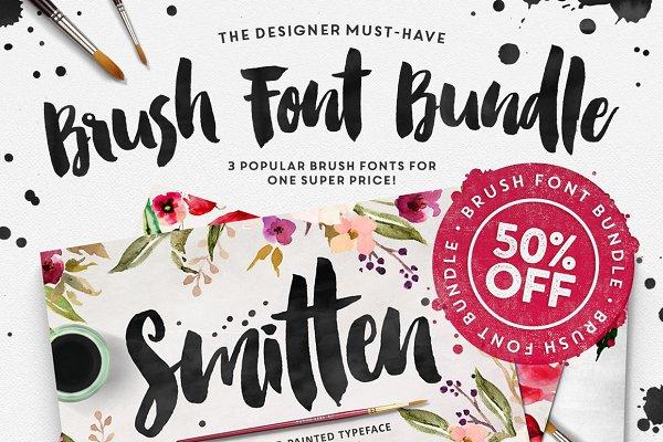 The Brush Font Bundle • 50% OFF