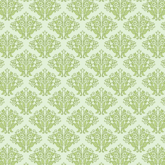 Vector Green Floral Seamless Pattern Graphic Patterns Creative Stunning Green Pattern Background