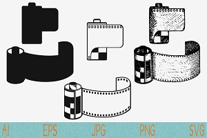 photo film cartridge camera film svg