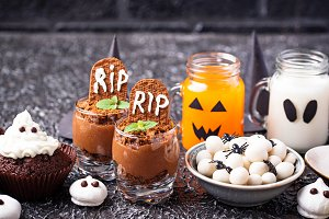 Assortment of Halloween treat for