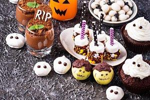 Assortment of Halloween treat for