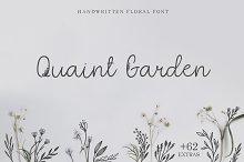Quaint Garden Floral Font +EXTRAS