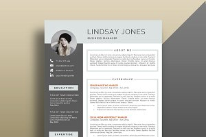 Professional Resume/CV Template.