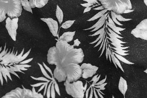 Flower Cloth Detail in Black White