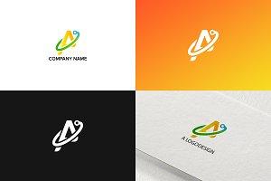 Letter A logo design