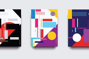 Posters geometric vector