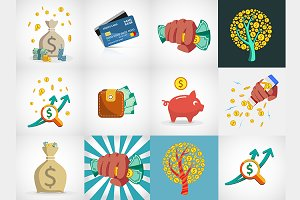 vector money icons