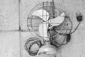 Vintage Fan in Black and White