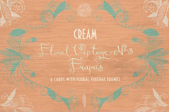 Floral Vintage №3. Cream. - Illustrations
