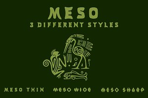 Meso - 3 Font Styles