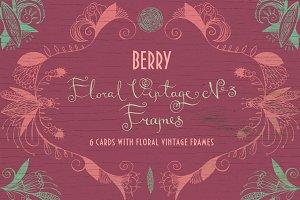 Floral Vintage №3. Berry.