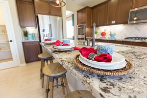 Abstract of Beautiful Kitchen Granit